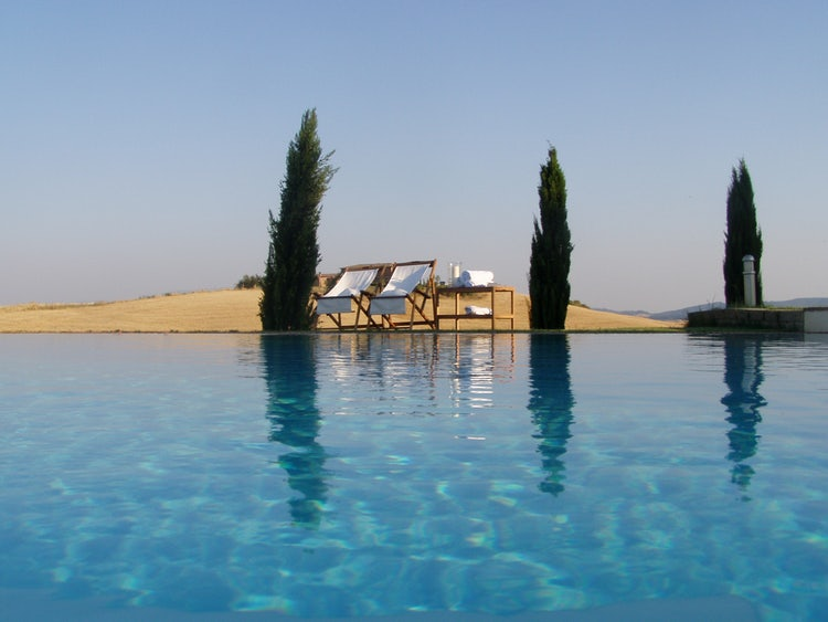 Panoramic swimming pool at San Giovanni in Poggio