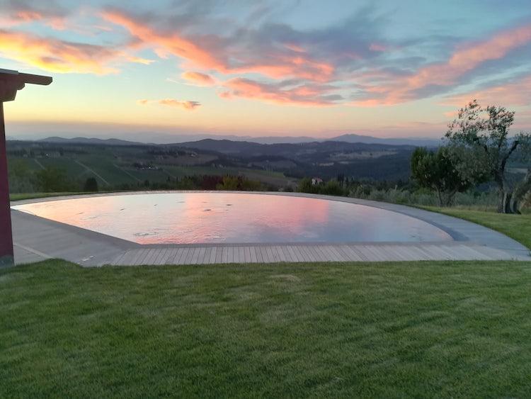 Sunset at Agriturismo Vicolabate in Chianti Classico