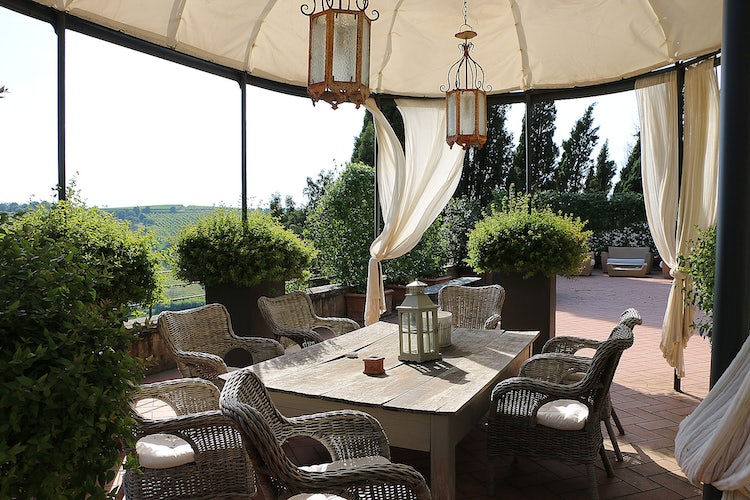 Gazebo at B&B Villa Dianella near Florence Italy