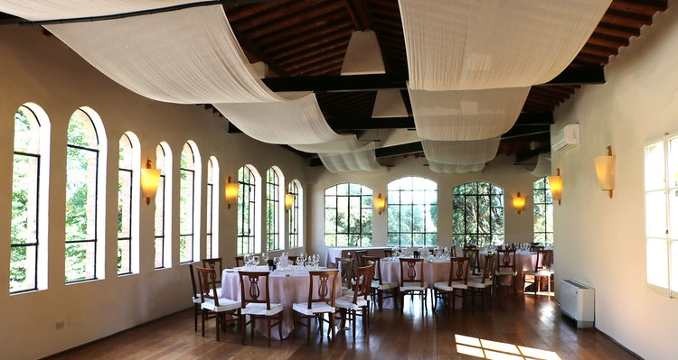 Dining hall at B&B Villa Dianella near Florence Italy