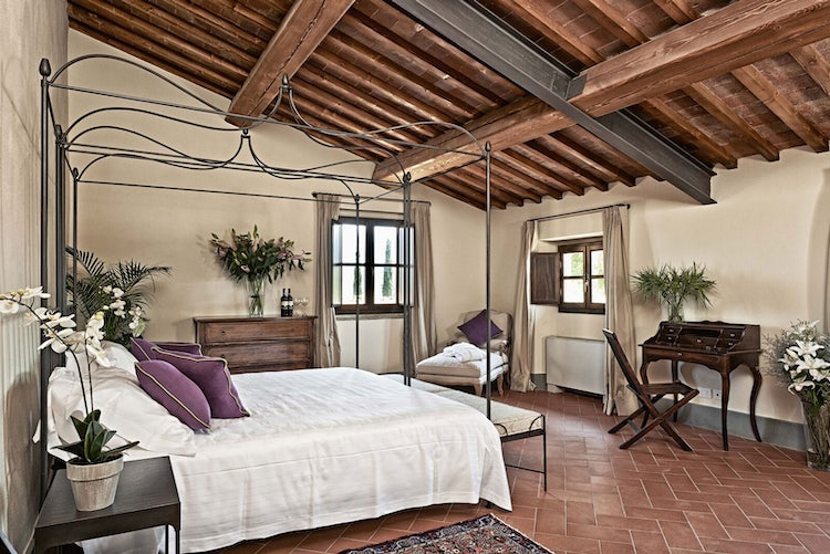 Deluxe accommodations and gardens at B&B with vacatin villa rentals Medicea di Lilliano