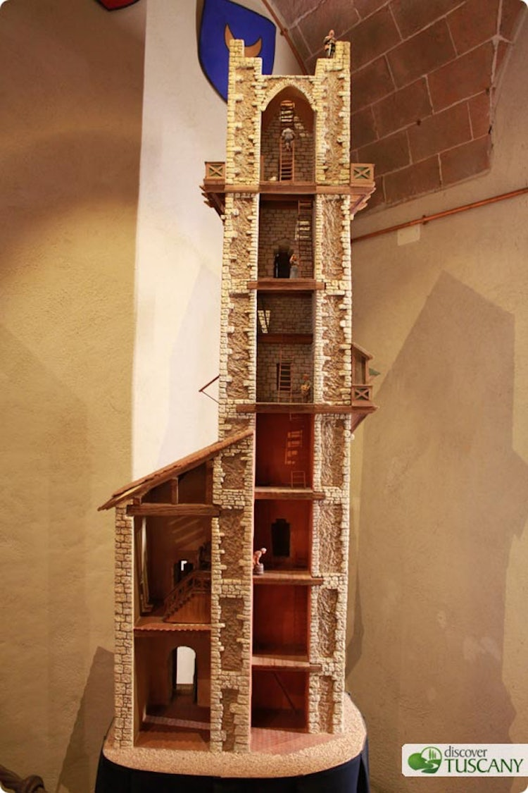 Reconstruction of a medieval tower