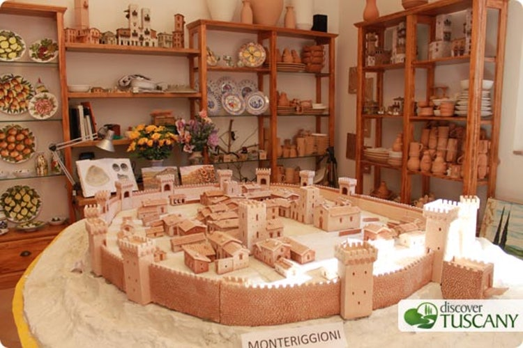 Miniature of the Monteriggioni Castle