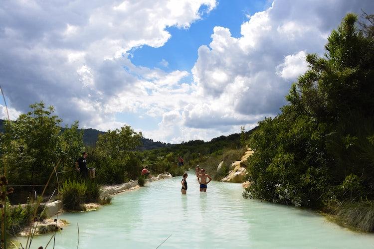 Bagno Vignoni Hot Springs In Val D Orcia
