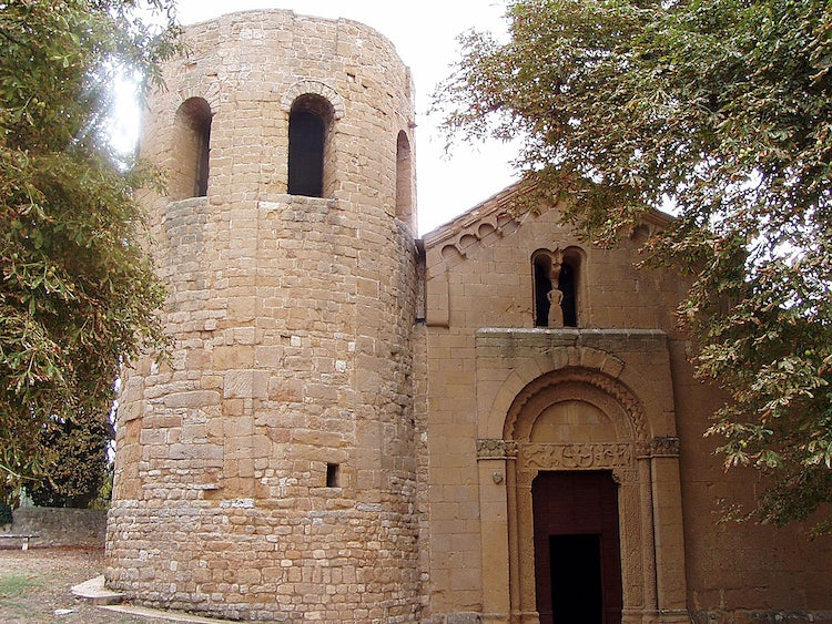 Corsignano church in Pienza in Val d'Orcia Tuscany