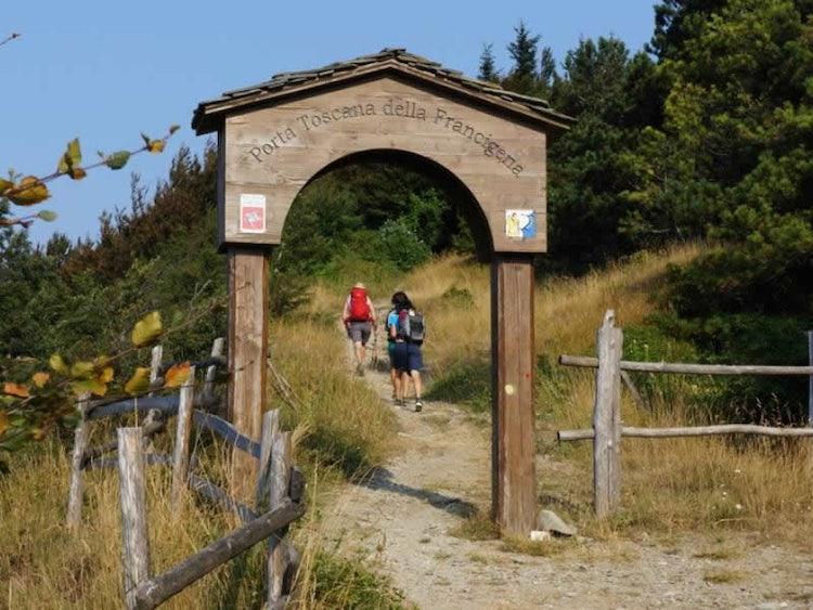 Enter to the via Francigena through Lunigiana