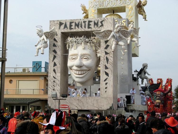 Floats in Viareggio's carnival